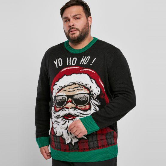 Foute Kersttrui Zwart Yo Ho Ho Grote Maat