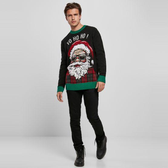 Foute Kersttrui Zwart Yo Ho Ho Sfeerfoto