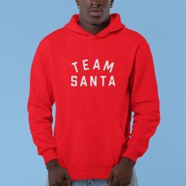 Kerst Hoodie Rood Team Santa Text
