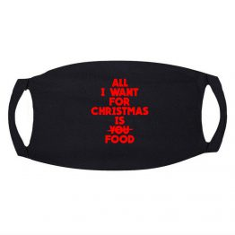 Kerst Mondkapje All I Want For Christmas Is Food