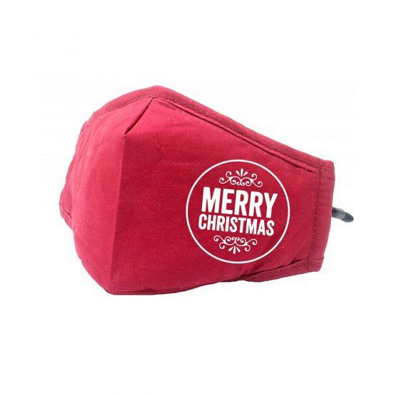 Kerst Mondkapje Rood Merry Christmas