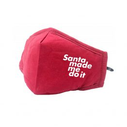Kerst Mondkapje Rood Santa Made Me Do It