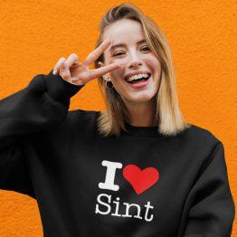 Sinterklaas Trui Zwart I Love Sint