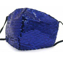 Trendy Mondkapje met Pailletten Donkerblauw