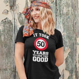 T-Shirt 50 Jaar Looking Good Dames
