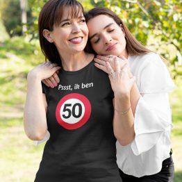 T-Shirt 50 Jaar Pssst Dames