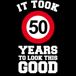 T-shirt 50 jaar Looking Good