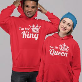 King Queen Hoodies Premium His Hers