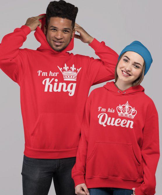 King Queen Hoodies Premium His Hers