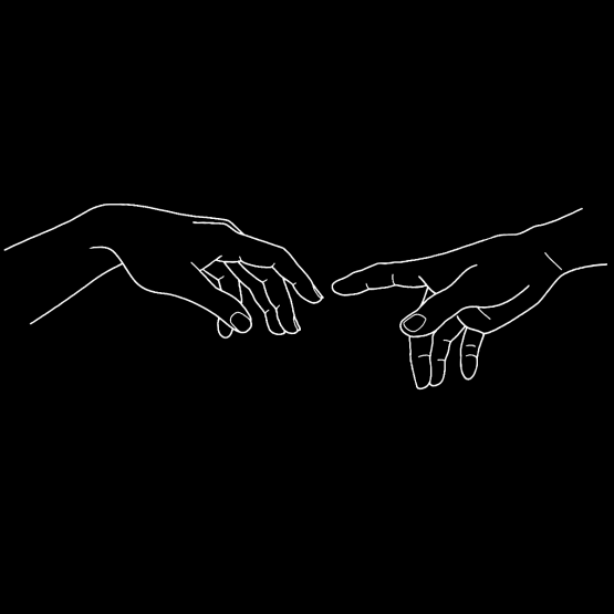 Valentijn Kleding Michelangelo Hands