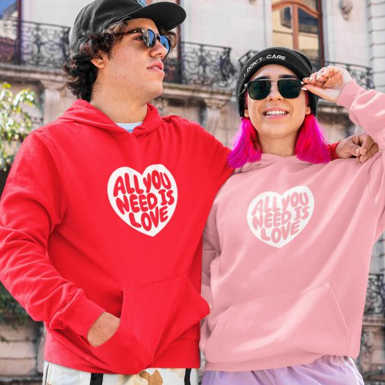 Valentijn Hoodie All You Need Is Love
