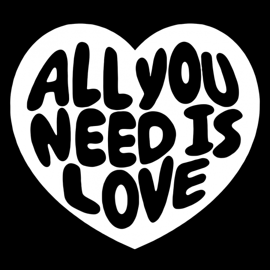 Valentijnsdag Kleding All You Need Is Love 1