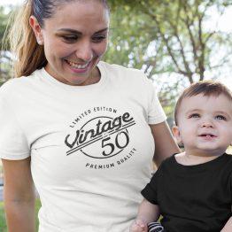 Wit T-Shirt 50 Jaar Dames Vintage