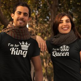 King Queen T-Shirts His & Hers