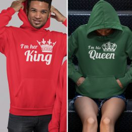 King Queen Hoodies His Hers Colors