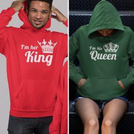 King Queen Hoodies His Hers Colors