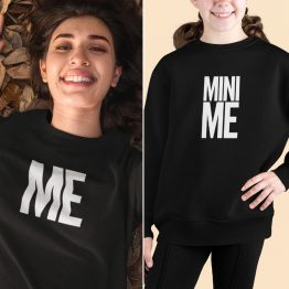 Moeder Dochter Sweaters Me & Mini Me Zwart
