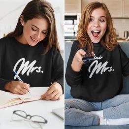 Moeder Dochter Sweaters Mrs & Mini Mrs