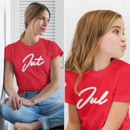 Moeder Dochter T-Shirts Jut & Jul Rood