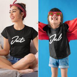 Moeder Dochter T-Shirts Jut & Jul Zwart