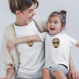 Moeder Dochter T-Shirts Mexican Skull Wit