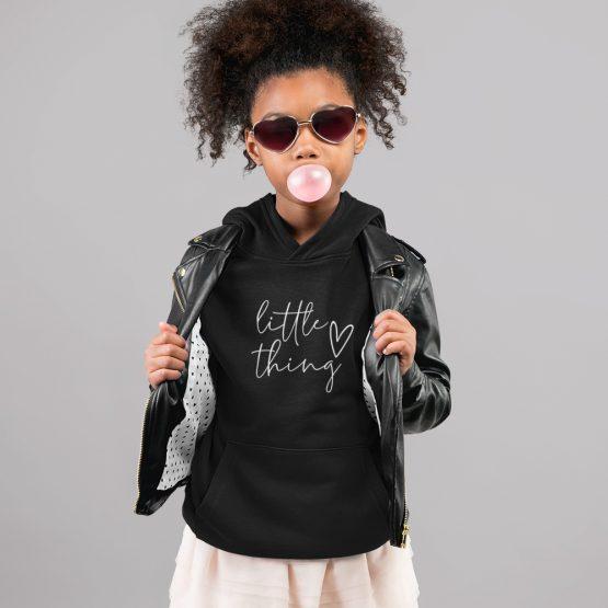 Hoodie Kind Little Thing Zwart