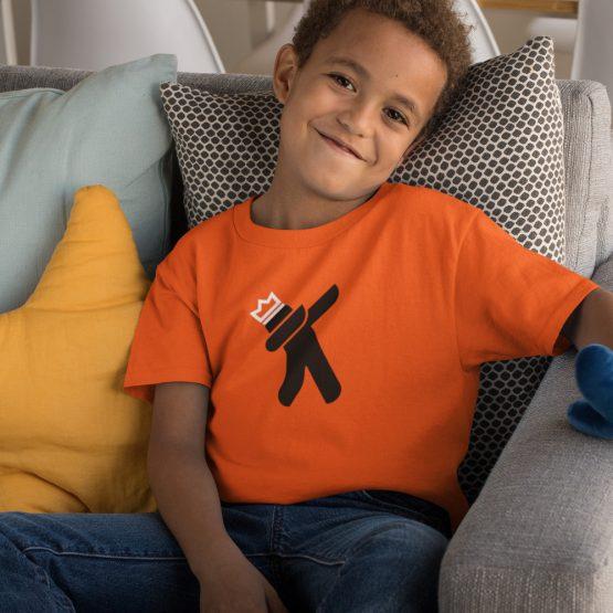 Koningsdag T-Shirt Kind Dab King