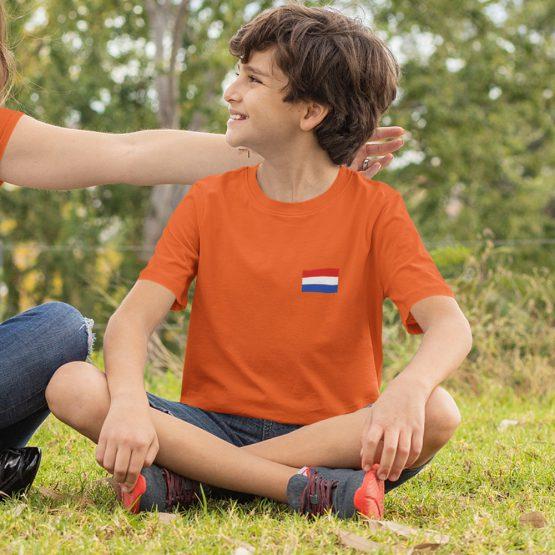 Koningsdag T-Shirt Kind Vlag