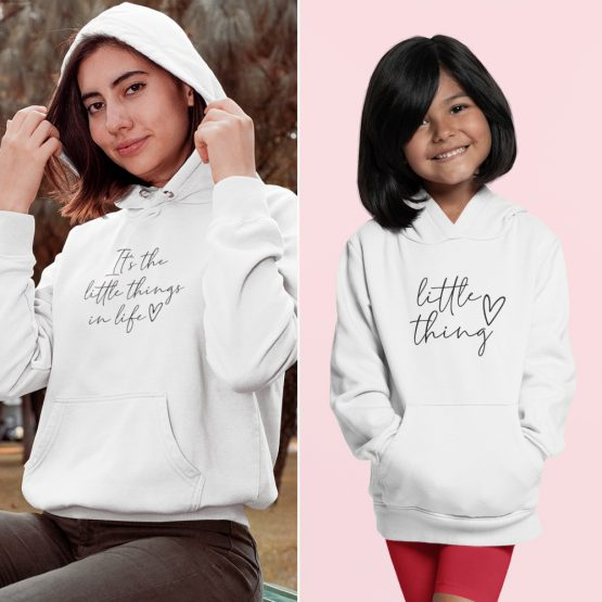 Moeder Dochter Hoodies It's The Little Things Wit