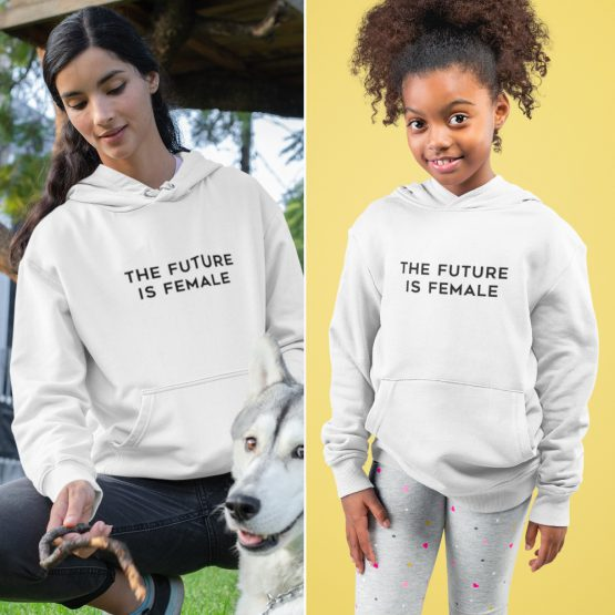 Moeder Dochter Hoodies The Future Is Female Wit
