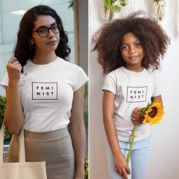 Moeder Dochter T-Shirts Feminist Wit