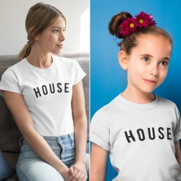 Moeder Dochter T-Shirts House Wit