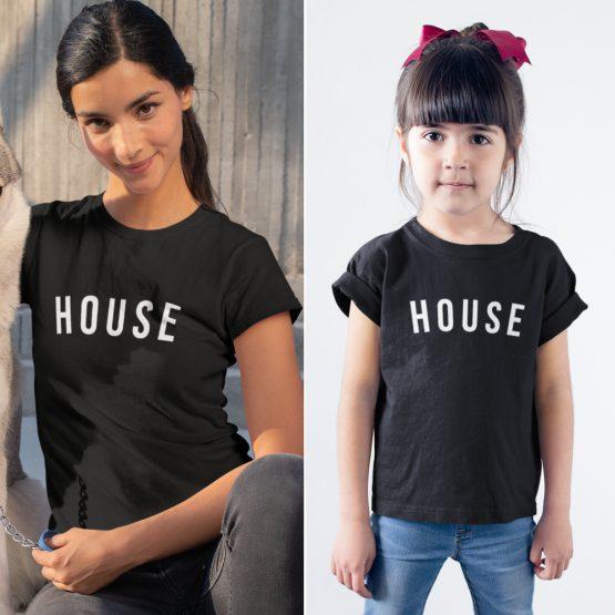 Moeder Dochter T-Shirts House Zwart