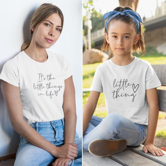 Moeder Dochter T-Shirts It's The Little Things Wit