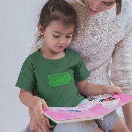 T-Shirt Kind Battery Full Groen