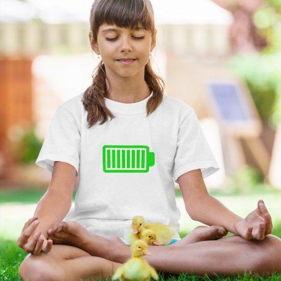 T-Shirt Kind Battery Full Wit