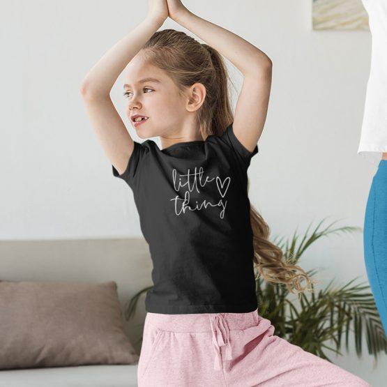 T-Shirt Kind Little Thing Zwart