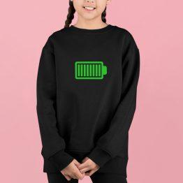 Trui Kind Battery Full Zwart