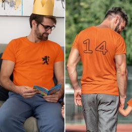 EK T-Shirt Black Lion + Rugnummer