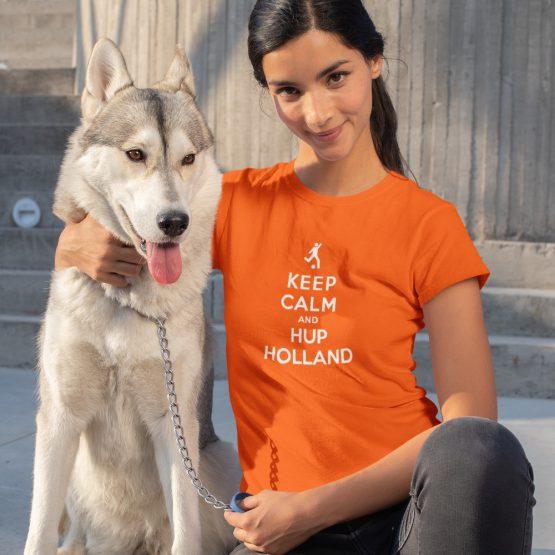 EK T-Shirt Keep Calm & Hup Holland Dames