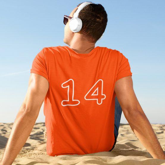 EK T-Shirt Met Eigen Nummer Taurus Mono Outline Bold