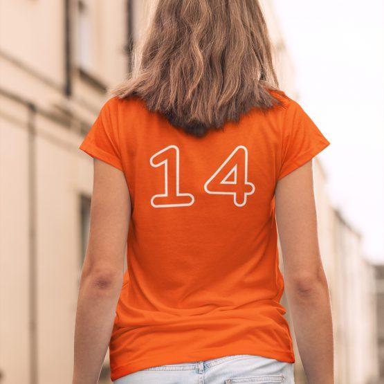 EK T-Shirt Met Eigen Nummer Taurus Mono Outline Bold Dames
