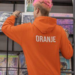 Koningsdag WK EK Hoodie Oranje Back