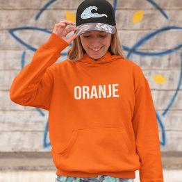 Koningsdag WK EK Hoodie Oranje Dames