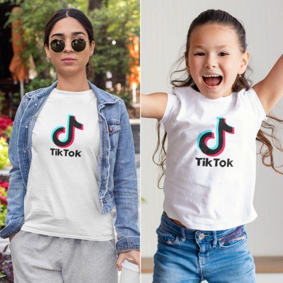 Moeder Dochter T-Shirts TikTok Wit