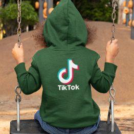 TikTok Hoodie Kind Groen Back