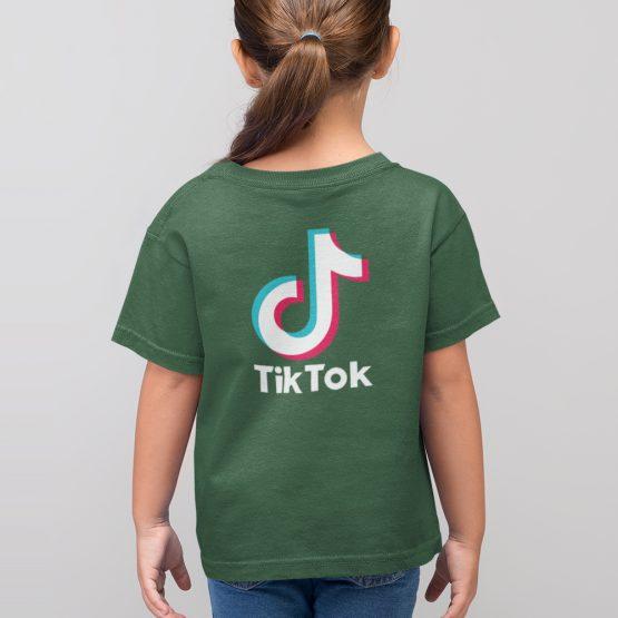 TikTok T-Shirt Kind Groen Back