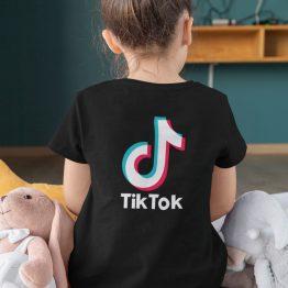 TikTok T-Shirt Kind Zwart Back