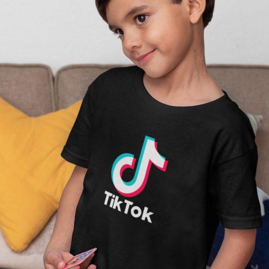 TikTok T-Shirt Zwart