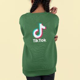 TikTok Trui Kind Groen Back